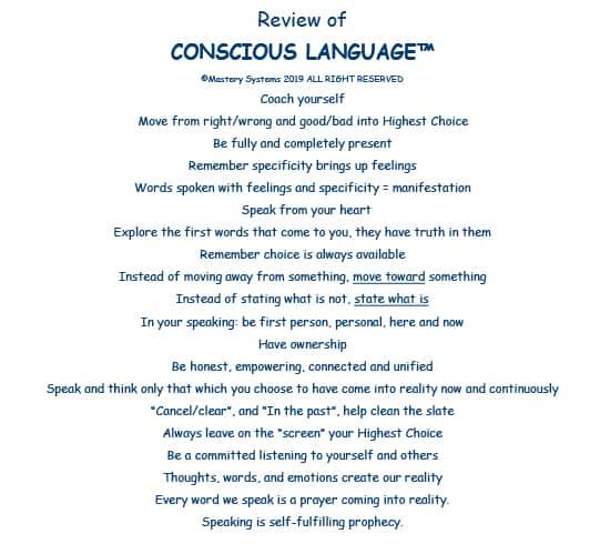 Conscious Language Review